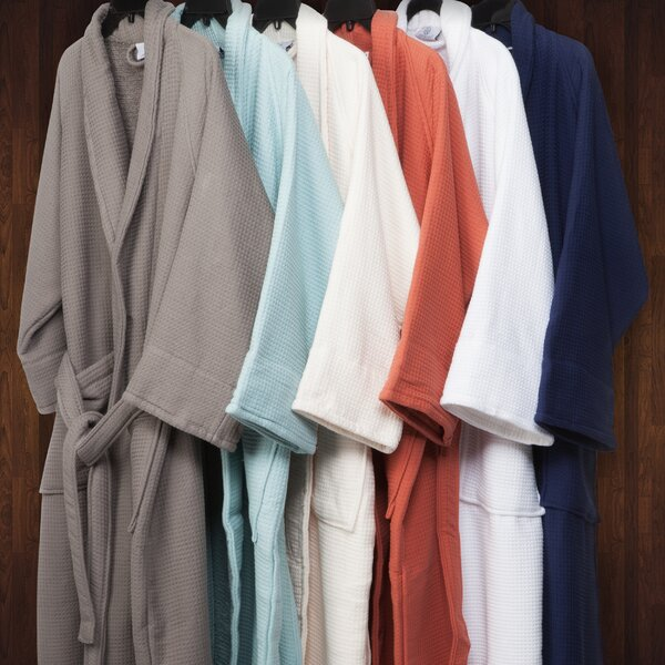 Whitman Superior 100% Cotton Waffle Weave Spa Bathrobe by The Twillery Co.
